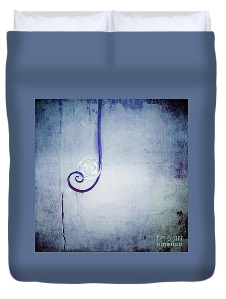 Duvet Cover featuring the digital art Bubbling - 033a by Variance Collections