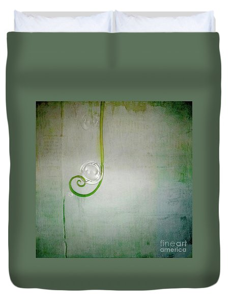 Duvet Cover featuring the digital art Bubbling -  S24aabbcc by Variance Collections