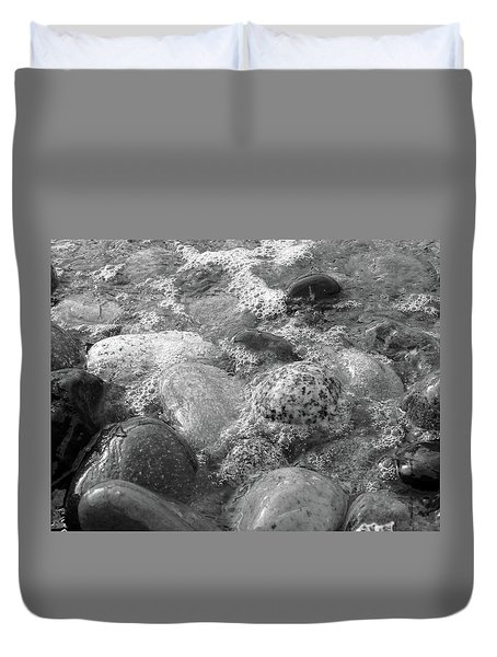 Bubbling Stones Duvet Cover