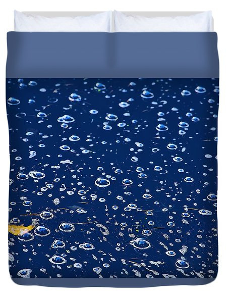 Duvet Cover featuring the photograph Bubbly by Gene Garnace