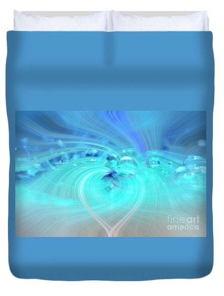 Bubbly Heart Duvet Cover