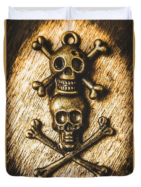 Buccaneer Bones Duvet Cover
