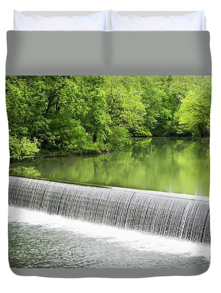 Duvet Cover featuring the photograph Buck Creek Greens by Parker Cunningham