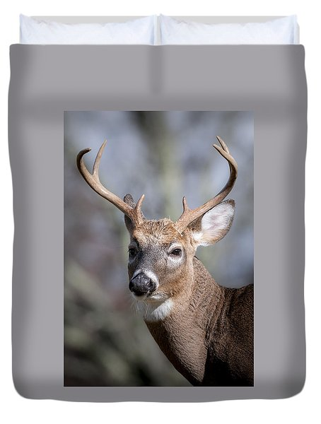 Buck Headshot Duvet Cover