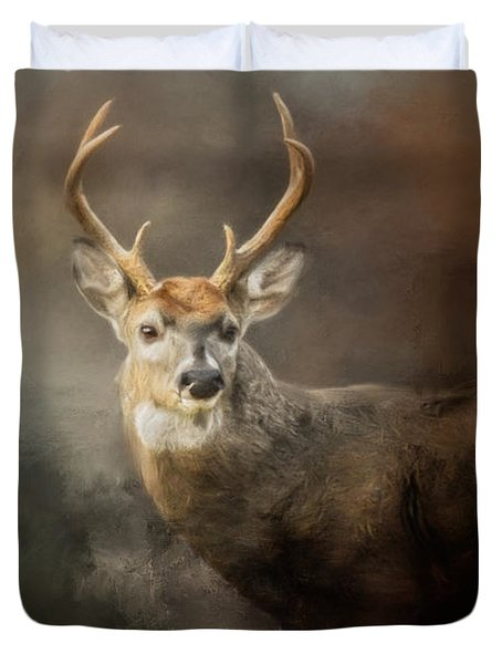 Buck In The Moonlight Duvet Cover