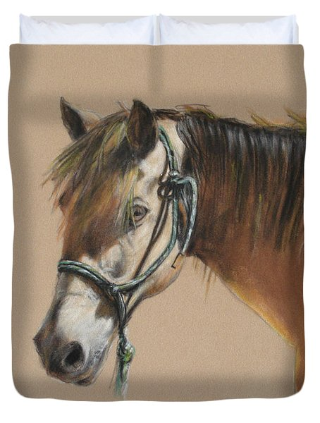 Buck Of The Morgan Horse Ranch Prns Duvet Cover