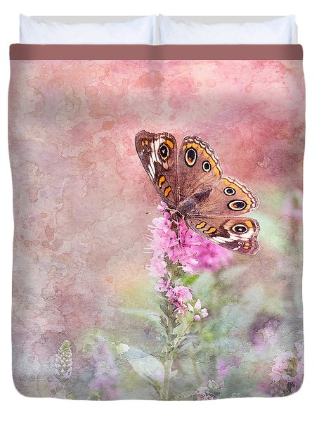 Duvet Cover featuring the photograph Buckeye Bliss by Betty LaRue