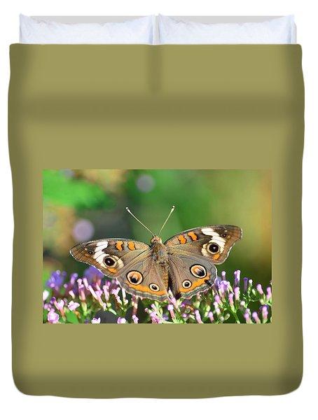 Buckeye Butterfly Duvet Cover by Kathy Eickenberg