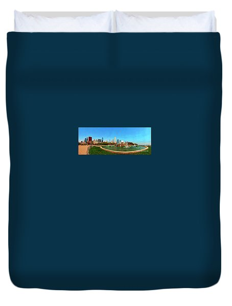 Buckingham Fountain Chicago Grant Park  Duvet Cover