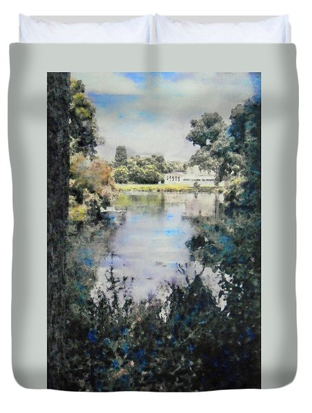 Buckingham Palace Garden - No One Duvet Cover by Richard James Digance