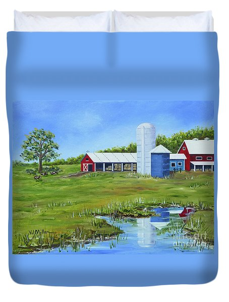 Bucks County Farm Duvet Cover