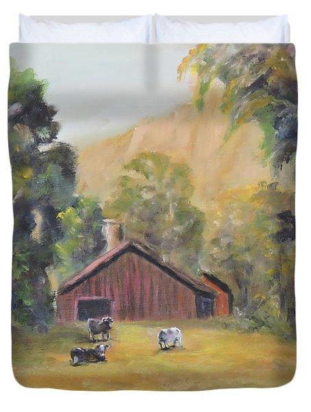 Bucks County Pa Barn Duvet Cover