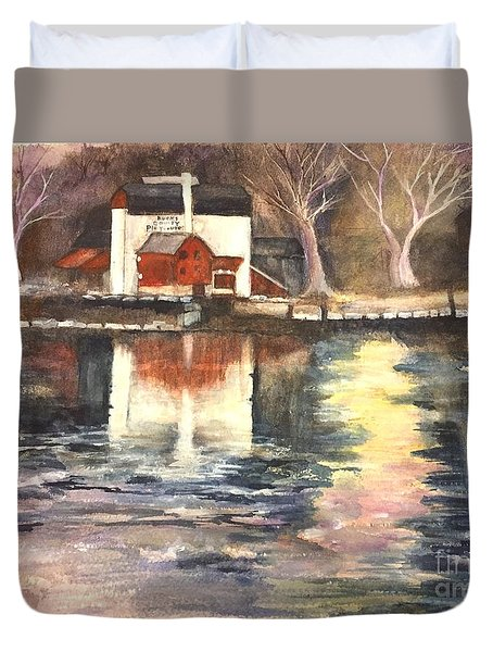 Bucks County Playhouse Duvet Cover by Lucia Grilletto