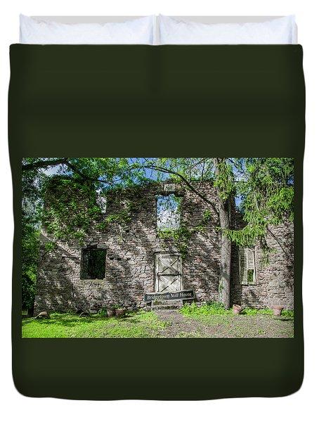 Bucks County Ruin - Bridgetown Mill House Duvet Cover by Bill Cannon