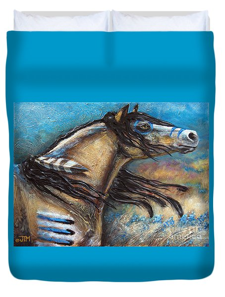 Buckskin Bell Blues Duvet Cover