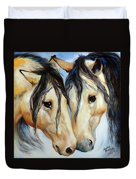 Buckskin Friends Duvet Cover