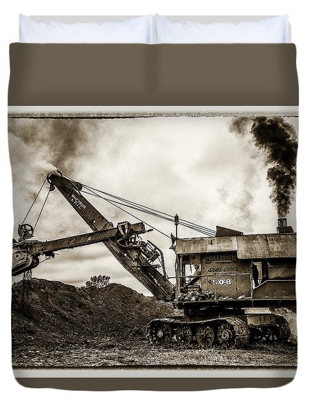 Bucyrus Erie Shovel Duvet Cover by Paul Freidlund