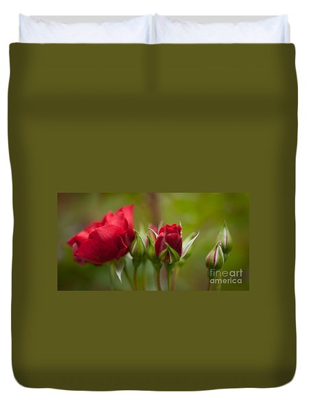 Bud Bloom Blossom Duvet Cover by Mike Reid