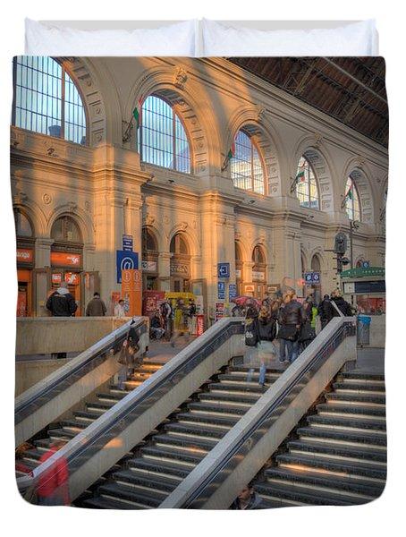 Budapest Train Station 2 Duvet Cover