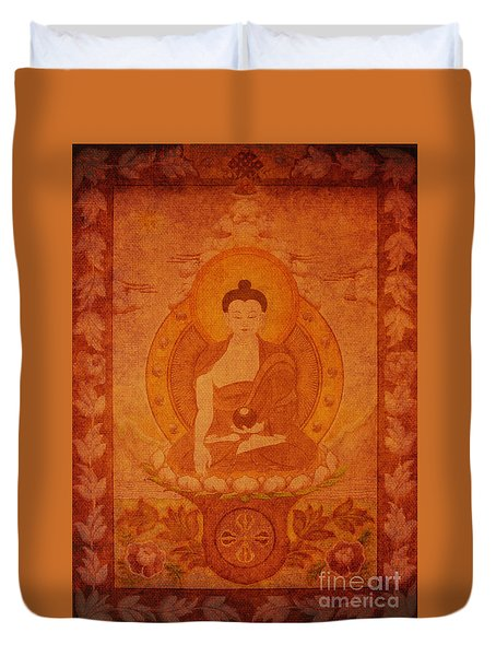 Buddha Antique Tapestry Duvet Cover
