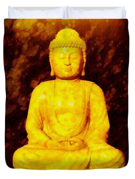 Buddha By Sarah Kirk Duvet Cover