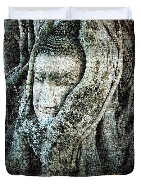 Buddha Head Duvet Cover