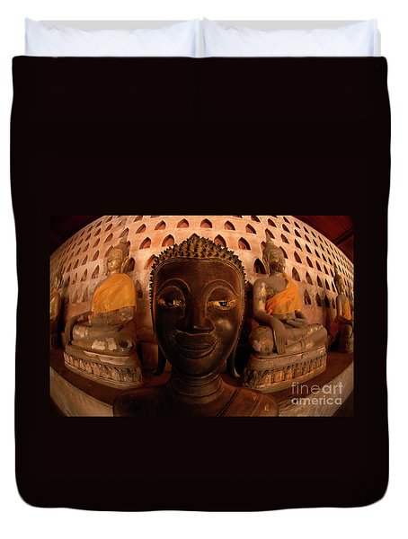 Buddha Laos 1 Duvet Cover by Bob Christopher
