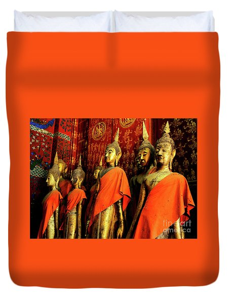 Buddha Laos 2 Duvet Cover by Bob Christopher