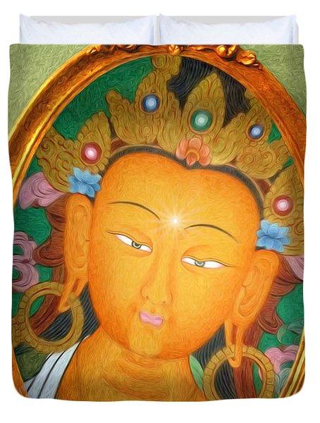 Buddha Mirror Duvet Cover