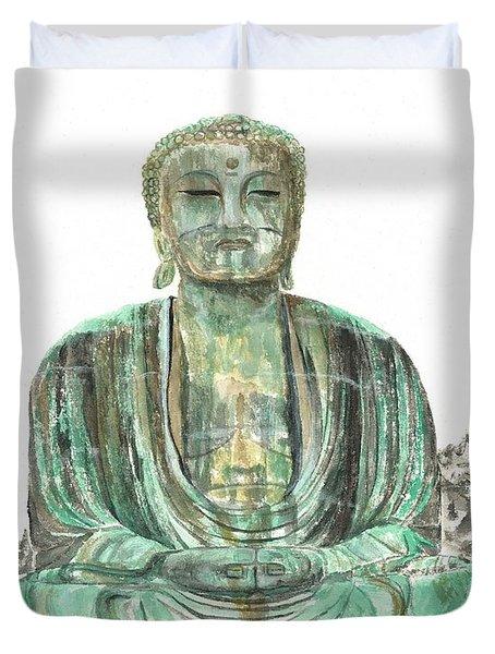 Buddha Of Kamakura Statue Duvet Cover