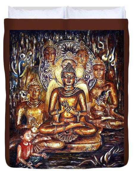 Buddha Reflections Duvet Cover by Harsh Malik