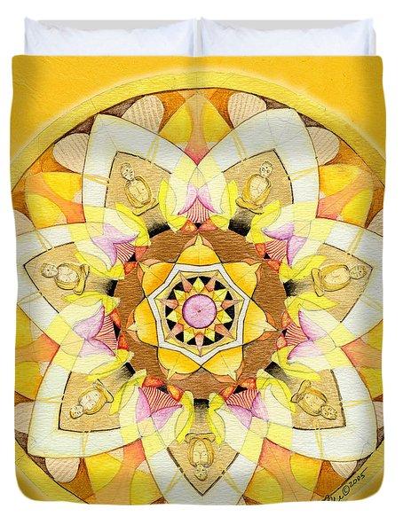 Buddha Sun Mandala Duvet Cover