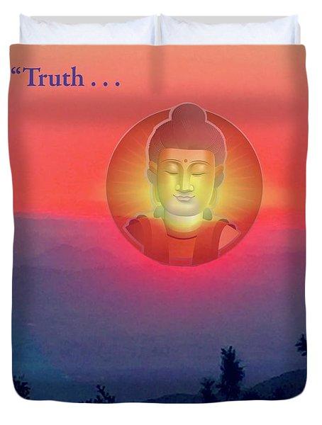 Buddha Sunset Duvet Cover by Jack Eadon