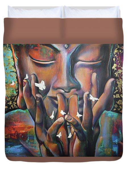 Buddhaflies Duvet Cover