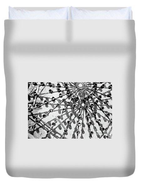 Buddhist Geometry Duvet Cover