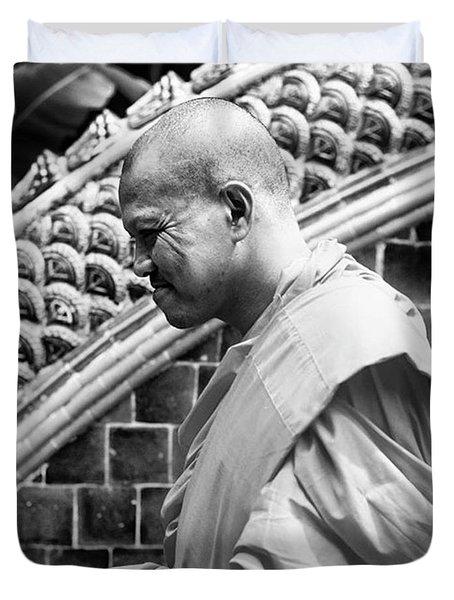Buddhist Monk Duvet Cover