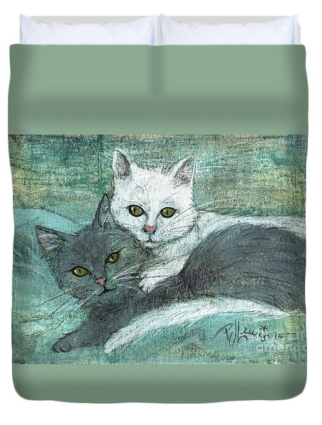 Buddies Duvet Cover by P J Lewis