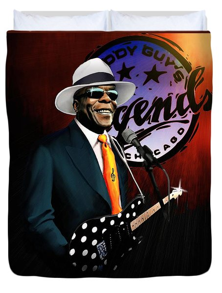 Duvet Cover featuring the painting Buddy Guy Legends by Jann Paxton