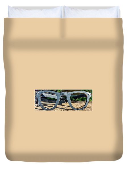 Buddy Holly Glasses Duvet Cover