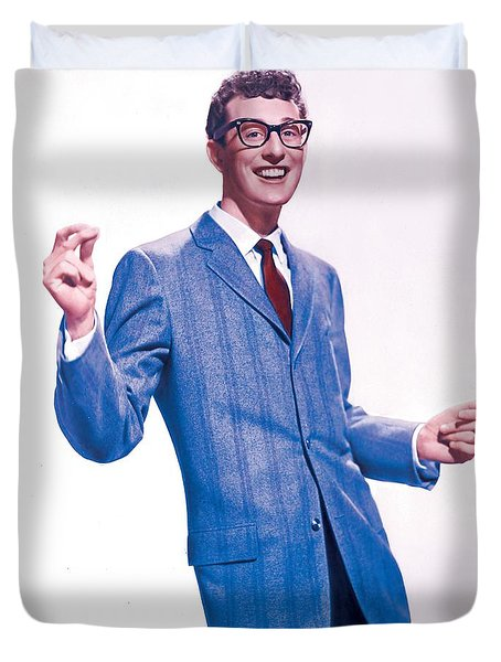 Buddy Holly Promotional Photo. Duvet Cover
