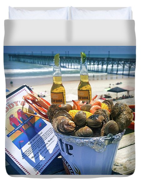 Buddys Crab House And Oyster Bar Duvet Cover