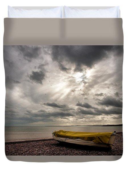 Budleigh Salterton Beach Duvet Cover