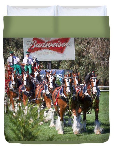 Budweiser Clydesdales Perfection Duvet Cover