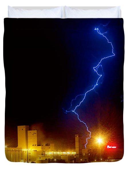 Budweiser Lightning Strike Duvet Cover by James BO  Insogna