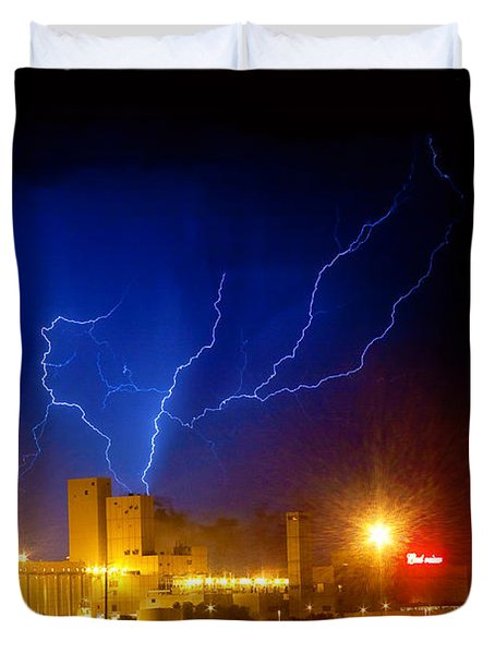 Budweiser Powered By Lightning Duvet Cover by James BO  Insogna