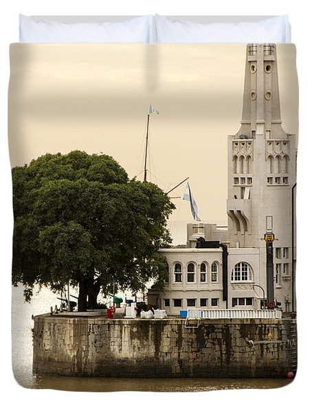 Buenos Aires Lighthouse Duvet Cover by For Ninety One Days