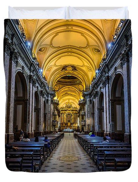 Buenos Aires Metropolitan Cathedral Duvet Cover