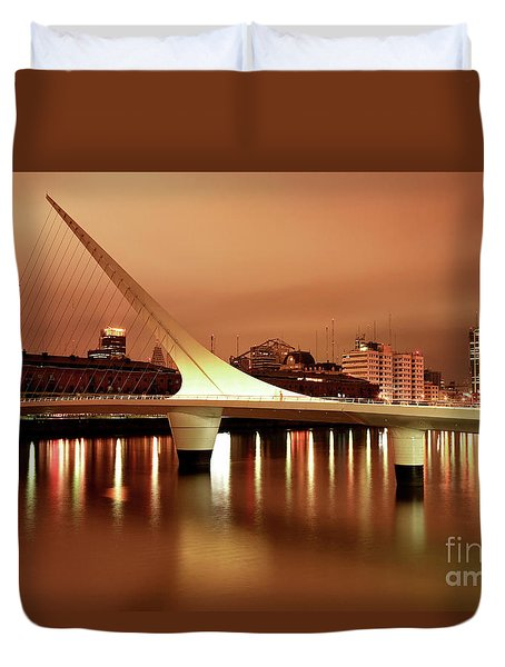 Duvet Cover featuring the photograph Buenos Aires On Fire by Bernardo Galmarini