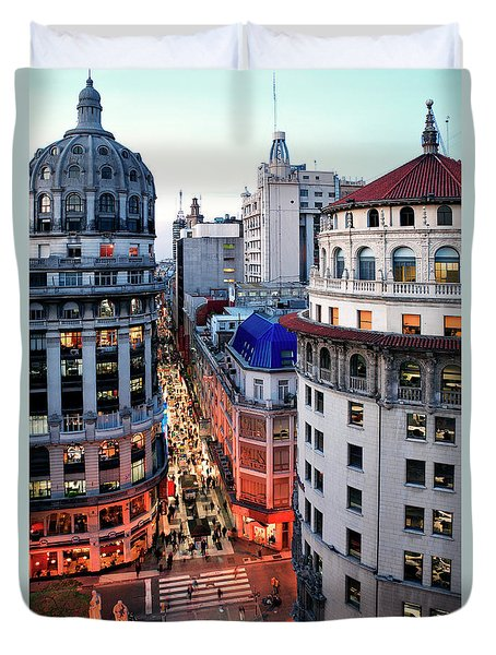 Duvet Cover featuring the photograph Buenos Aires Street I by Bernardo Galmarini