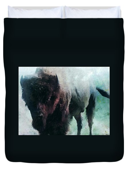 Buffalo American Bison Duvet Cover by Michele Carter